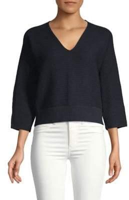 Lafayette 148 New York V-Neck Cotton Sweater