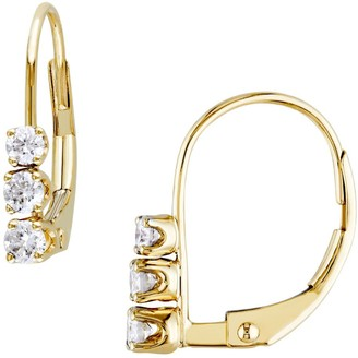 Sonatina 14K Yellow Gold & Diamond Leverback Earrings