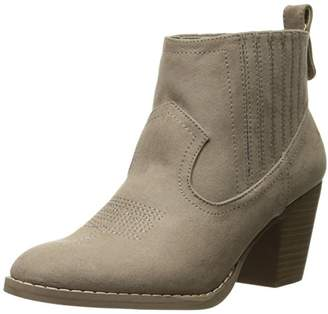 Sugar Women's Ronnie Western Heeled Ankle Bootie