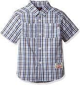 Edwin (エドウィン) - (エドウイン)EDWIN(エドウィン) チェック柄 半袖シャツ QCAI20-0167 0167 ブルー 120