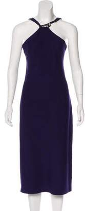 Halston Sleeveless Midi Dress