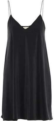 Alice + Olivia Lilla Washed-Silk Mini Slip Dress