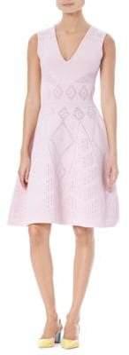 Carolina Herrera A-Line Knit Dress