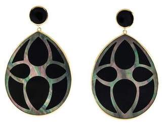 Ippolita 18K Carved Shell & Onyx Teardrop Earrings