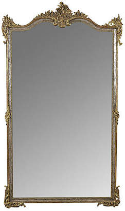 One Kings Lane Vintage Grand French Mirror in Louis XVI Style - Castle Antiques & Design