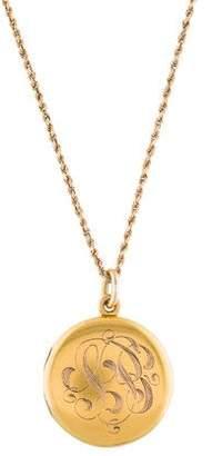 Monogram Locket Pendant Necklace