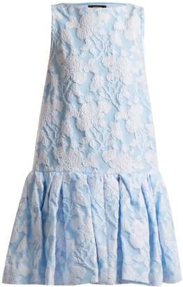 Rochas Floral-jacquard cotton-blend dress