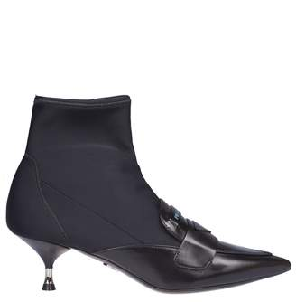Prada Pointy Ankle Boots
