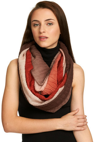 Just Jamie Scarves Ombré Eternity Scarf Brown Spice