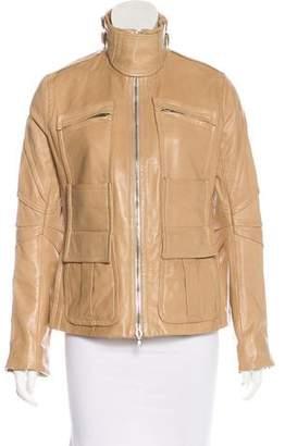 Kaufman Franco Kaufmanfranco Leather Biker Jacket