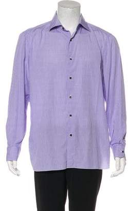 Isaia Patterned Dress Shirt