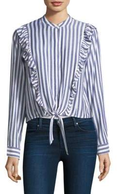 Rails Piper Ruffle Striped Cotton Top