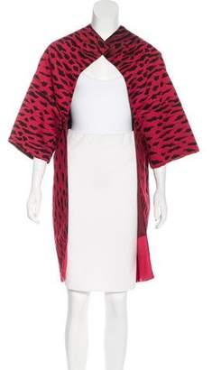 Valentino Jacquard Kimono Coat