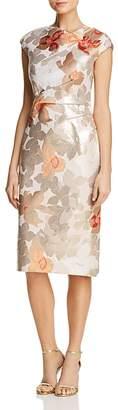 Paule Ka Floral Jacquard Sheath Dress