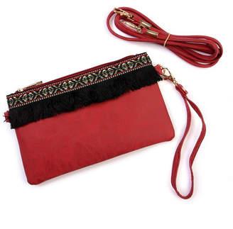 Riah Fashion Fringed Wrist Strap Bag