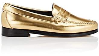 Re/Done + Weejuns Women's Whitney Metallic Leather Penny Loafers - Gold