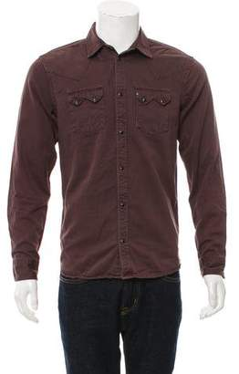 AllSaints Point Collar Button-Up Shirt