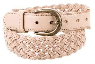 3.1 Phillip Lim Leather Woven Belt