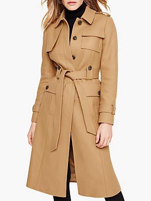 Eleni Belted Trench Coat, Camel