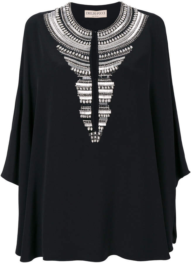 Emilio Pucci embellished neck piece dress
