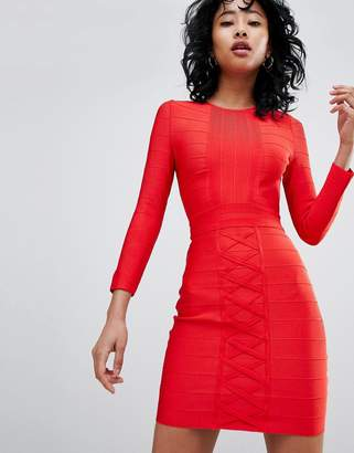 Love & Other Things Long Sleeve Bandage Dress
