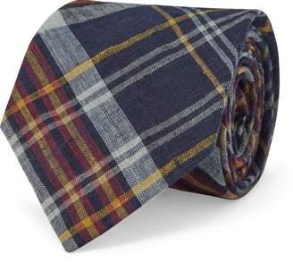 Ralph Lauren Cotton Madras Narrow Tie
