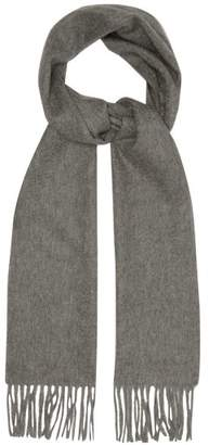 Paul Smith Fringed Cashmere Scarf - Mens - Grey