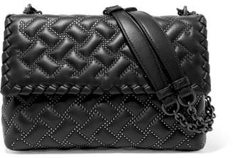 Bottega Veneta Olimpia Medium Studded Quilted Leather Shoulder Bag - Black