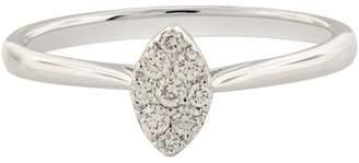 Bony Levy 18K White Gold Pave Diamond Cluster Ring - 0.14 ctw