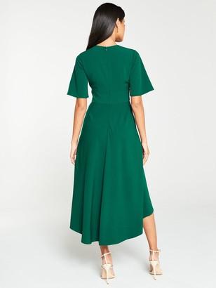 Very Kimono Sleeve Midi Dress- Green