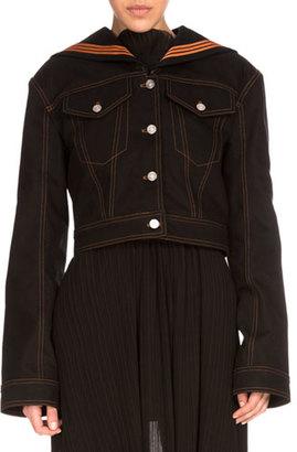 Kenzo Denim Sailor Jacket, Black $815 thestylecure.com