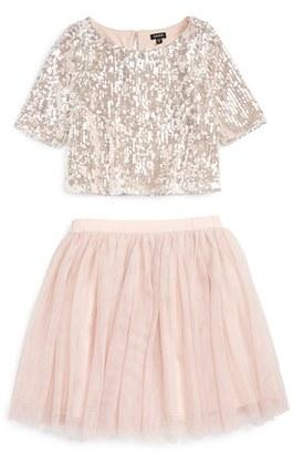 Zunie Sequin 'Meet & Greet' Top & Tulle Skirt Set $64 thestylecure.com