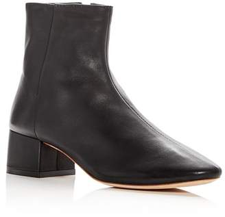 Loeffler Randall Women's Carter Leather Block Heel Booties