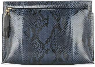 Loewe snakeskin clutch