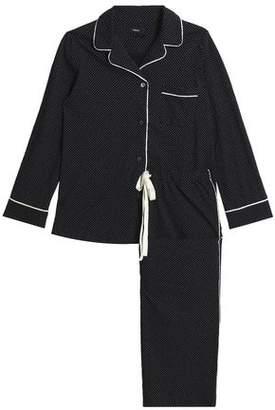 Theory Printed Cotton-Jersey Pajama Set