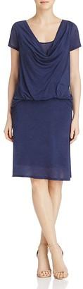 Three Dots Drape Front Dress $158 thestylecure.com