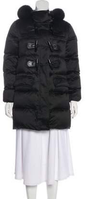 Burberry Fur-Trimmed Short Coat