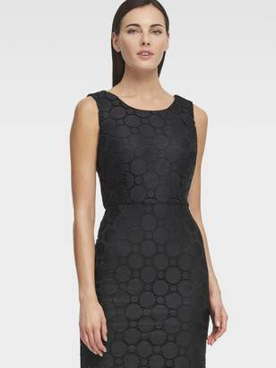 DKNY Circle Lace Sheath Dress