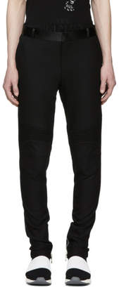 Balmain Black Satin Detail Trousers