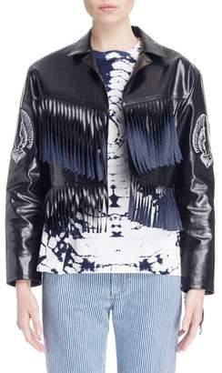 Toga Fringed Coated Denim Jacket