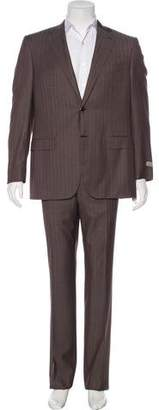 Canali Striped Wool Suit w/ Tags