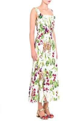 Dolce & Gabbana Vegetable-Print Midi Dress