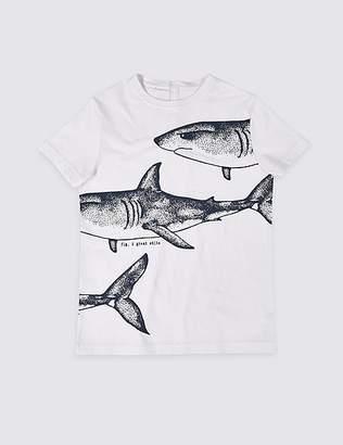 Marks and Spencer Easy Dressing Shark T-Shirt (3-16 Years)