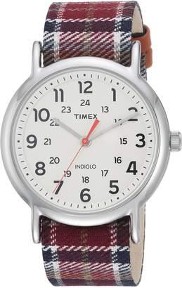 Timex Women's TW2R42200 Weekender Fabric Slip-Thru Strap Watch