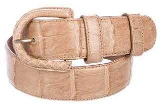 Donna Karan Crocodile Buckle Belt