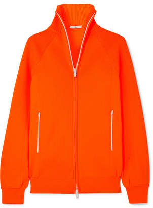 Tibi Neon Ribbed Stretch-knit Cardigan - Bright orange