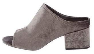 3.1 Phillip Lim Velvet Slide Sandals w/ Tags