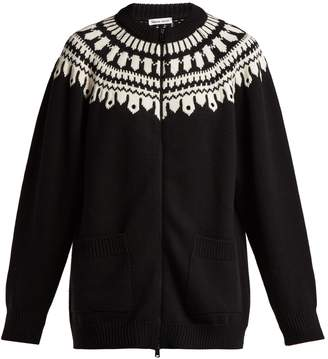 Tomas Maier Fair Isle zip-through wool cardigan