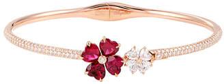Chopard Heritage  18K Rose Gold Diamond & Ruby Bracelet