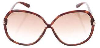 Tom Ford Oval Gradient Sunglasses